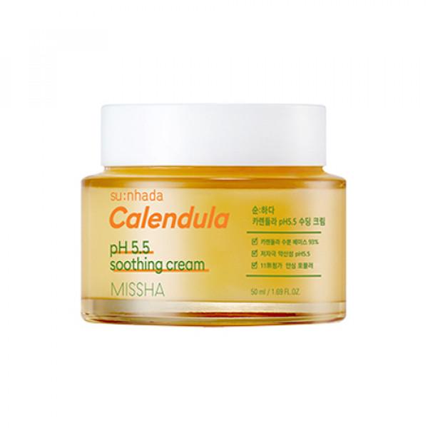 W-[MISSHA] Sunhada Calendula pH 5.5 Soothing Cream - 50ml x 10ea