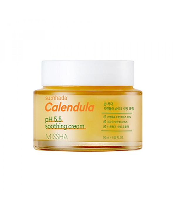 [MISSHA_45% SALE] Sunhada Calendula pH 5.5 Soothing Cream - 50ml