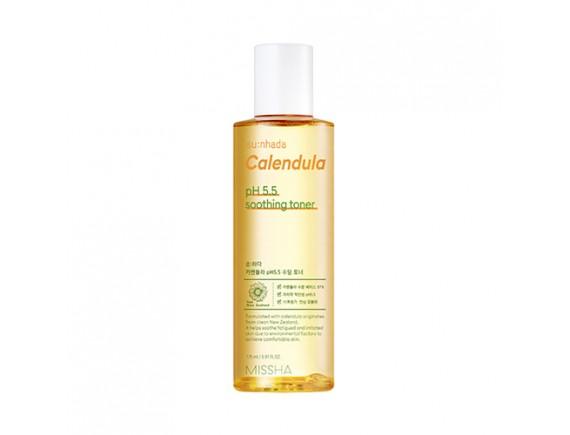 [MISSHA] Sunhada Calendula pH 5.5 Soothing Toner - 175ml