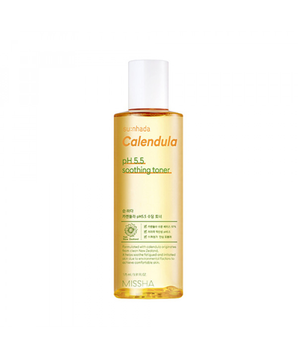 [MISSHA] Sunhada Calendula pH 5.5 Soothing Toner - 175ml
