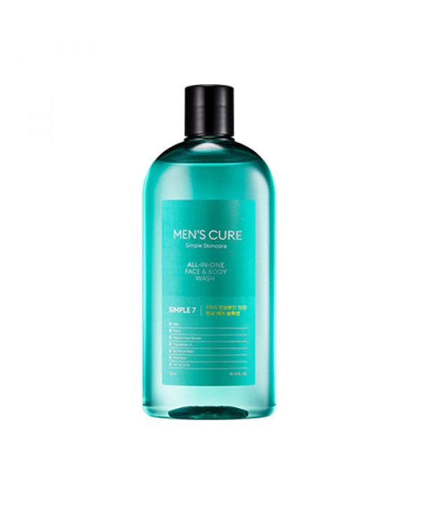 [MISSHA] Mens Cure Simple 7 All In One Face & Body Wash - 300ml