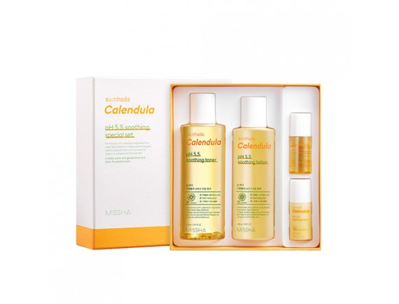 [MISSHA] Sunhada Calendula pH 5.5 Soothing Special Set - 1pack (4items)
