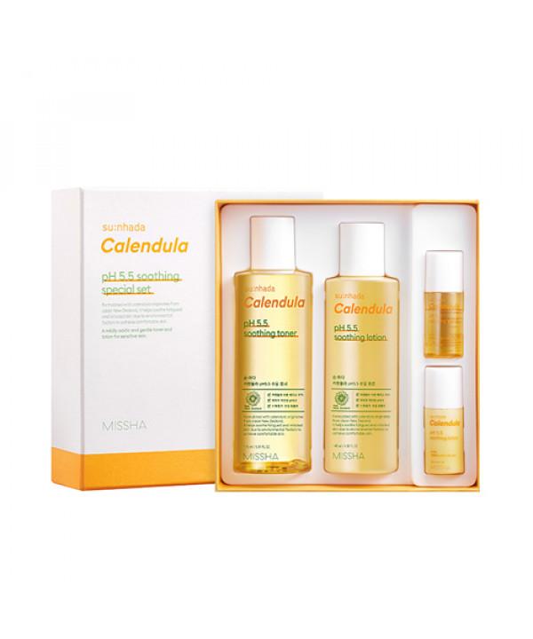 [MISSHA_55% SALE] Sunhada Calendula pH 5.5 Soothing Special Set - 1pack (4items)