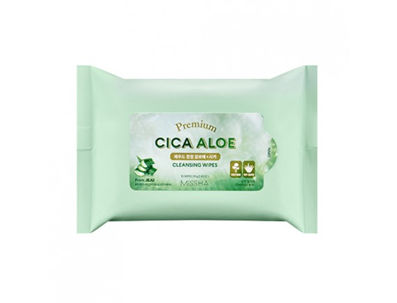 [MISSHA] Premium Cica Aloe Cleansing Wipes - 1pack (15pcs)