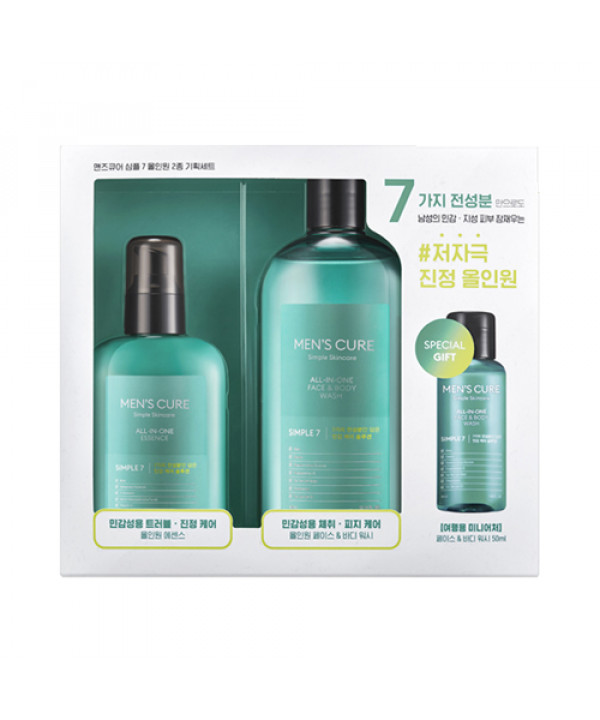 W-[MISSHA] Men's Cure Simple 7 All In One 2 Step Speclal Set - 1pack (3items) x 10ea