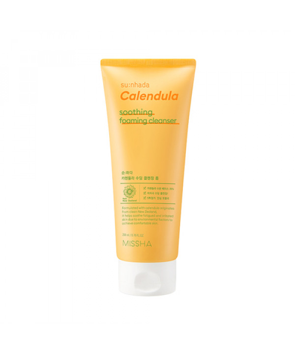 [MISSHA] Sunhada Calendula Soothing Cleansing Foam - 200ml