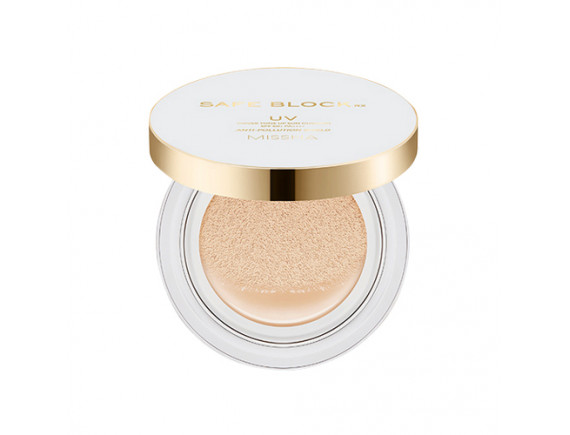 [MISSHA] Safe Block Rx Cover Tone Up Sun Cushion (Foundation Free) - 14g (SPF+ PA++++)