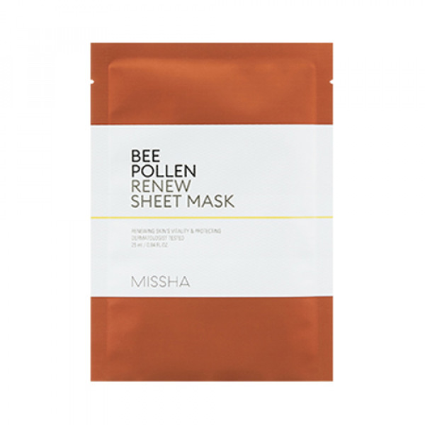 [MISSHA] Bee Pollen Renew Sheet Mask - 1pcs