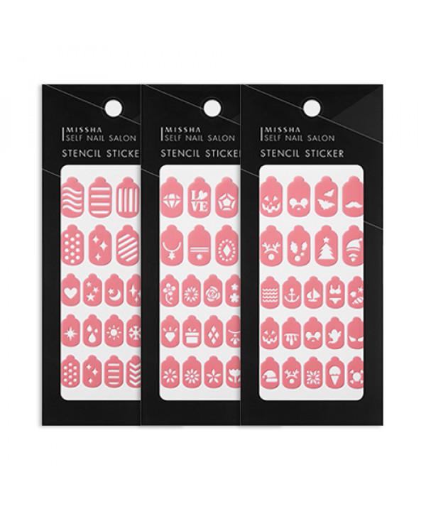 [MISSHA] Self Nail Salon Stencil Sticker - 1pcs