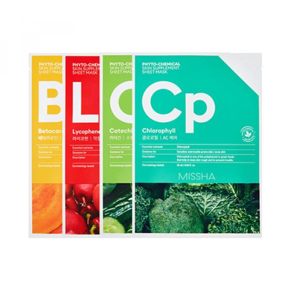 W-[MISSHA] Phyto Chemical Skin Supplement Sheet Mask - 1pcs x 10ea