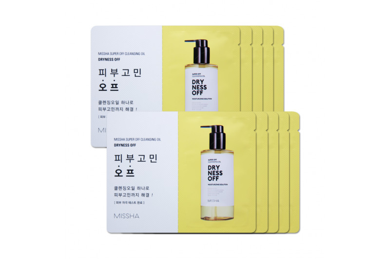 [MISSHA_Sample] Super Off Cleansing Oil Samples - 10pcs No.Dryness Off