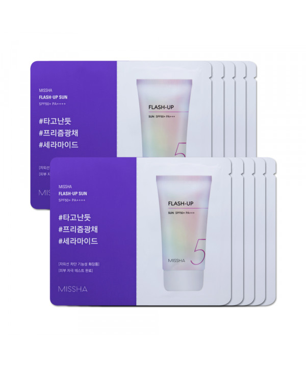 [MISSHA_Sample] Flash Up Sun Samples - 10pcs (SPF50+ PA++++)