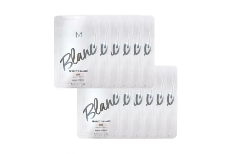[MISSHA_Sample] M Perfect Blanc BB Samples - 10pcs No.21 Vanilla