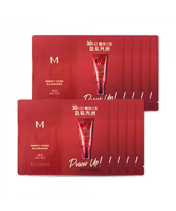 [MISSHA_Sample] M Perfect Cover BB Cream RX Samples - 10pcs No.21 Light Beige