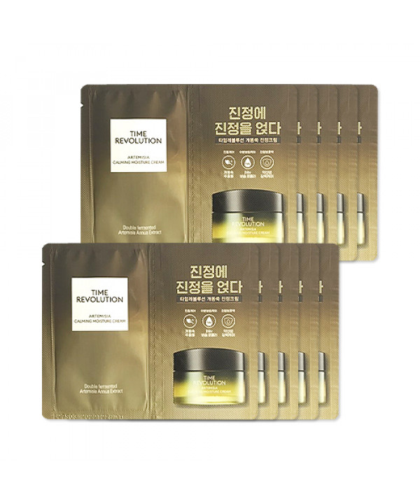 [MISSHA_Sample] Time Revolution Artemisia Calming Moisture Cream Samples - 10pcs