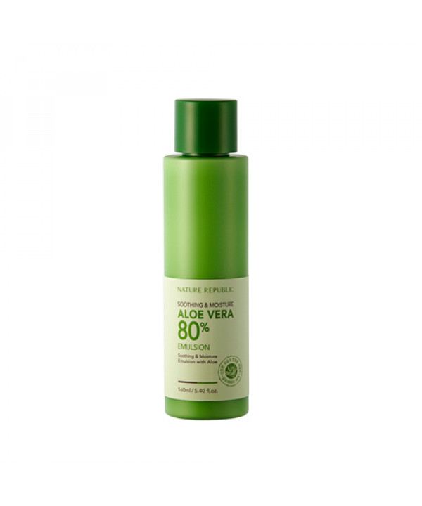 [NATURE REPUBLIC_LIMITED] Soothing & Moisture ALOE VERA 80% Emulsion - 160ml(EXP 2021.04)