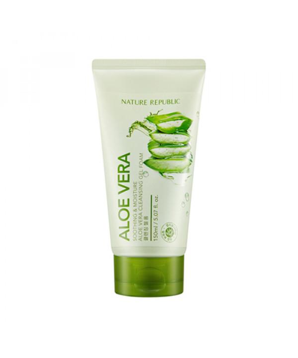 [NATURE REPUBLIC] Soothing & Moisture Aloe Vera Cleansing Gel Foam - 150ml (new)