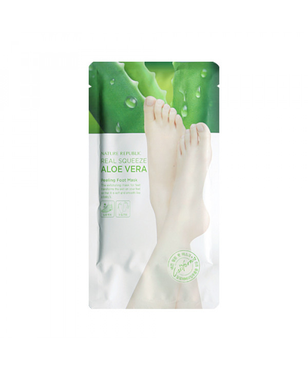 [NATURE REPUBLIC] Real Squeeze Aloe Vera Peeling Foot Mask - 1pcs