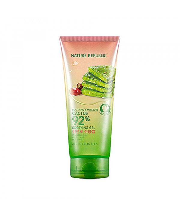 [NATURE REPUBLIC] Soothing Moisture Cactus 92% Soothing Gel - 250ml (Tube)