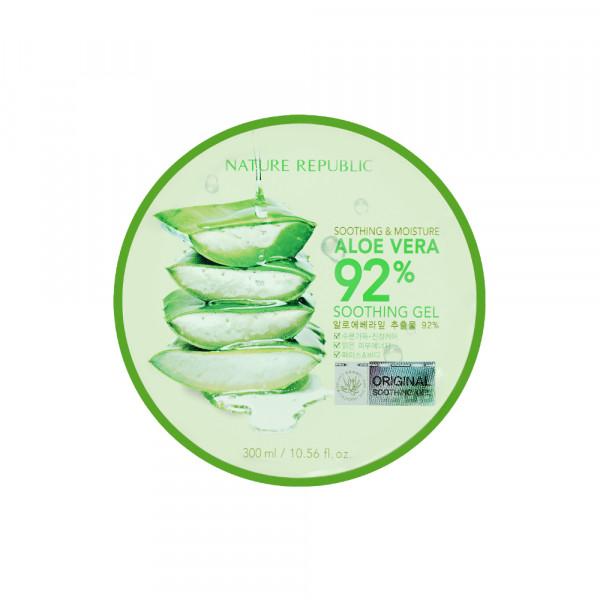 [NATURE REPUBLIC] Soothing & Moisture Aloe Vera 92% Soothing Gel - 300ml