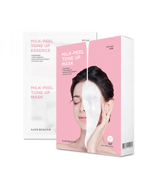 [NATUREKIND] Milk Peel Tone Up Mask - 1pack (5pcs)