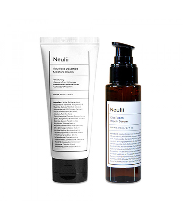 [Neulii] Squalane Desertica Moisture Cream - 100ml + Cicapepta Repair Serum - 80ml