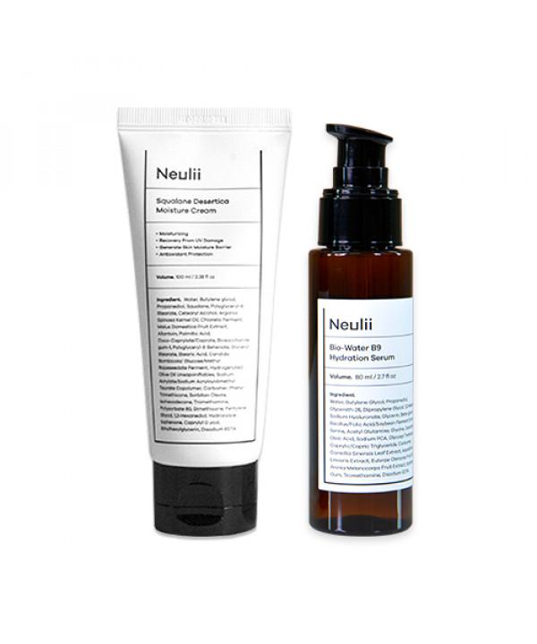 [Neulii] Squalane Desertica Moisture Cream - 100ml + Bio Water B9 Hydration Serum - 80ml