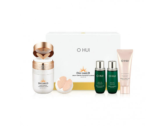 [OHUI] Day Shield Smart Pumping Foundation Cushion 2Set - 1pack (5items) #01