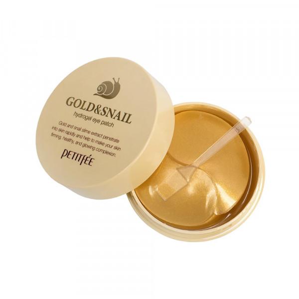 [PETITFEE] Hydrogel Eye Patch - 1pack (60pcs) #Gold & Snail