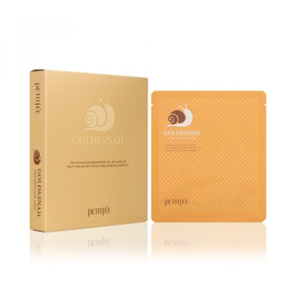 [PETITFEE] Hydrogel Mask Pack - 1pack (5pcs) #Gold & Snail