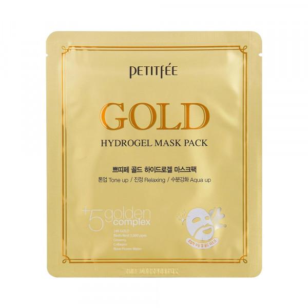[PETITFEE] Hydrogel Mask Pack - 1pack (5pcs) #Gold