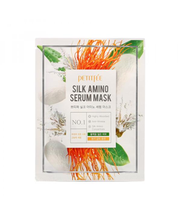[PETITFEE] Silk Amino Serum Mask - 1pack (10pcs)