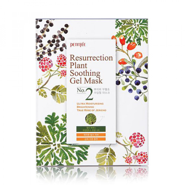 [PETITFEE] Resurrection Plant Soothing Gel Mask - 1pack (10pcs)