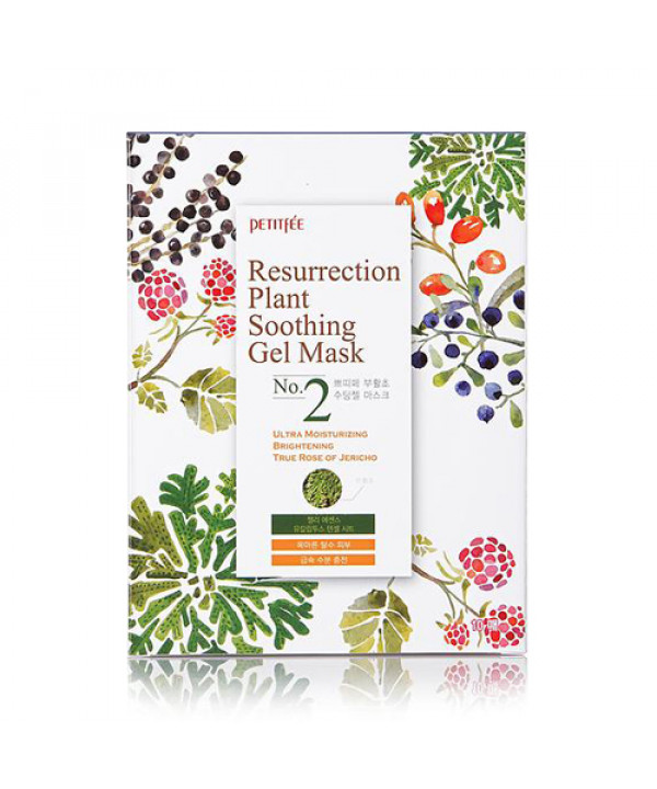 [PETITFEE] Resurrection Plant Soothing Gel Mask - 1pack (10pcs)