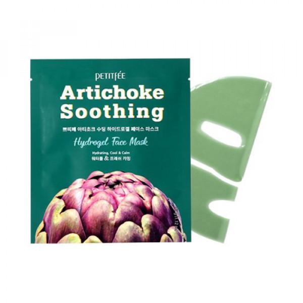 [PETITFEE] Artichoke Soothing Hydrogel Face Mask - 1pack (5pcs)