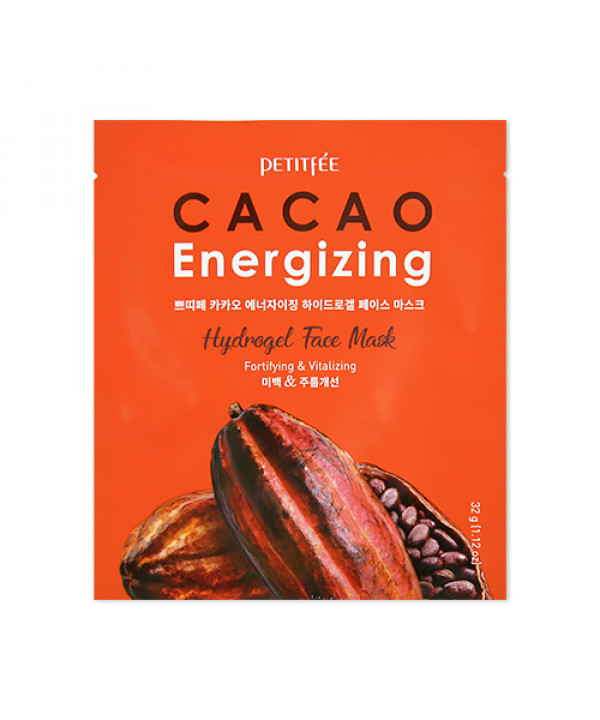 [PETITFEE] Cacao Energizing Hydrogel Face Mask - 1pack (5pcs)