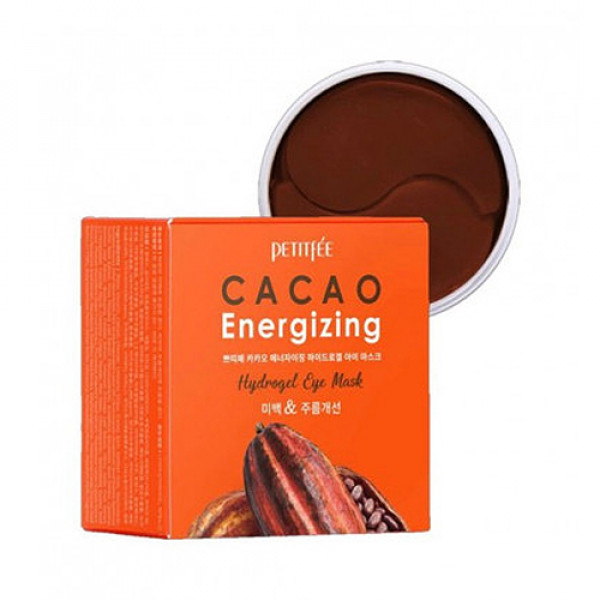 [PETITFEE] Cacao Energizing Hydrogel Eye Mask- 1pack (60pcs)