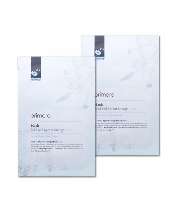[Primera_Sample] Seed and Sprout Energy Mask Samples - 2pcs No.Lotus