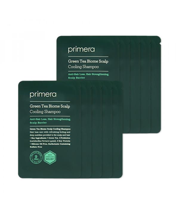 [Primera_Sample] Green Tea Biome Scalp Cooling Shampoo Samples - 10pcs