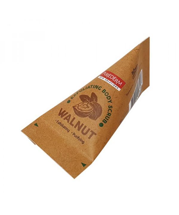 W-[PUREDERM] Body Scrub - 1pcs No.Walnut Exfoliating x 10ea