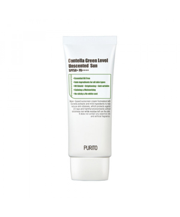 [PURITO_LIMITED] Centella Green Level Unscented Sun - 60ml (SPF50+ PA+++) (Flawed box)