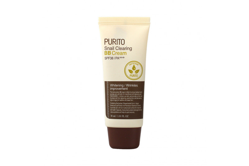 [PURITO] Snail Clearing BB Cream - 30ml (SPF38 PA+++)