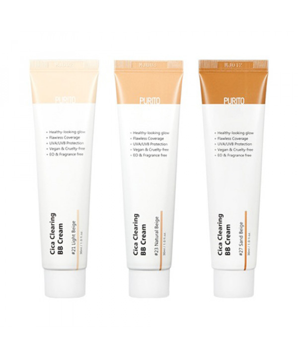 [PURITO] Cica Clearing BB Cream - 30ml (SPF38 PA+++)