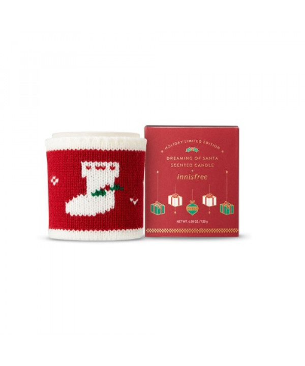 [Request_LIMITED] INNISFREE  Scented Candle Dreaming Of Santa (2018 Green Christmas Limited Edition) - 130g   MFD 2018.10