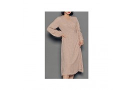[Request] HOTPING  Dot Print Wrap Dress #Beige-1 (XS-S) (44-55)