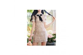 [Request] MILKCOCOA  Spring Lovely Soft Pink Tweed Dress #M+5cm+Brooch