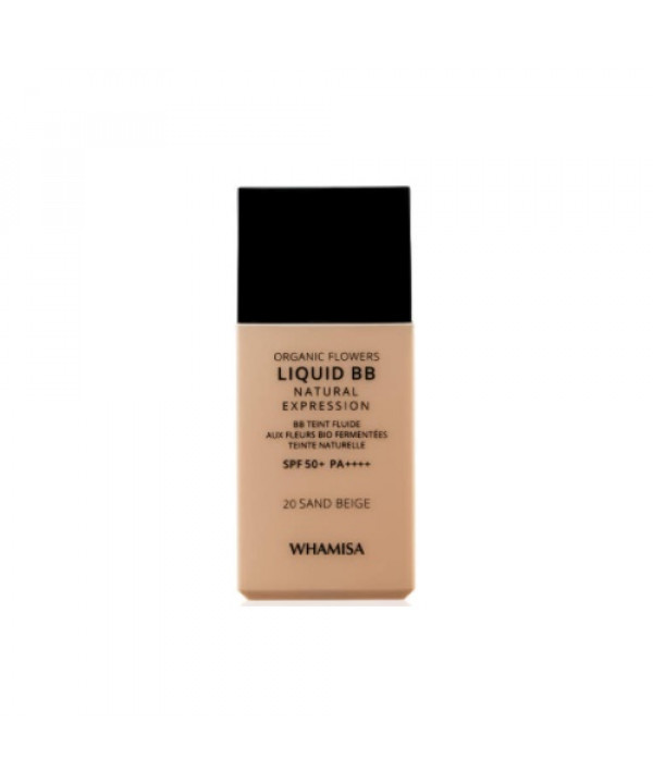 [Request] WHAMISA  Organic Flowers Liquid BB Natural Expression - 30g (SPF50+ PA++++) #20 Sand Beige