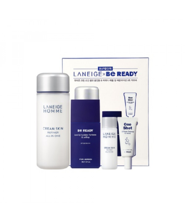 [Request] LANEIGE  Cream Skin Homme All-in-One & BeReady Level Up Foundation Set - 1pack (4items)