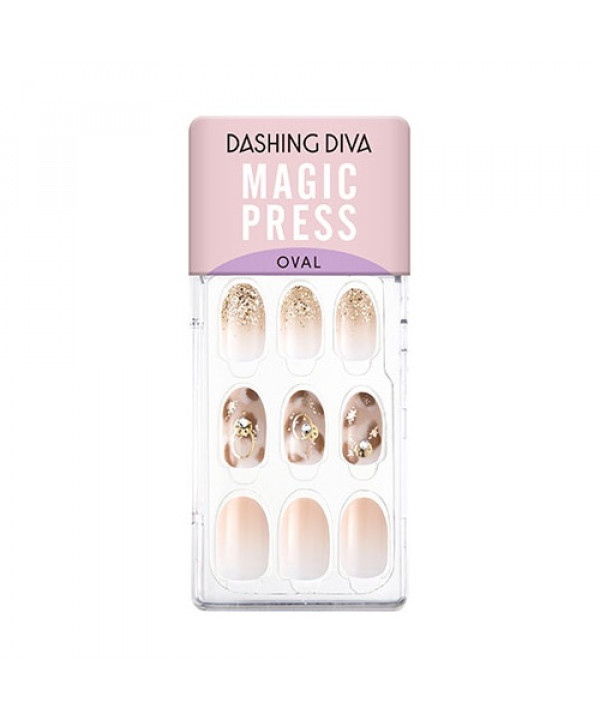 [Request] DASHING DIVA  Magic Press Autumn Closet-Calm Beige (Oval) - 1pack (4items)