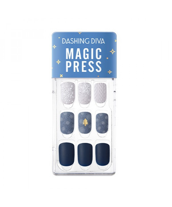 [Request] DASHING DIVA  Magic Press Glitter Balm-Snowing Night - 1pack (4items)